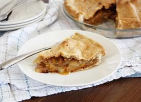 Maple, Apple and Cheddar Pie   Recipe