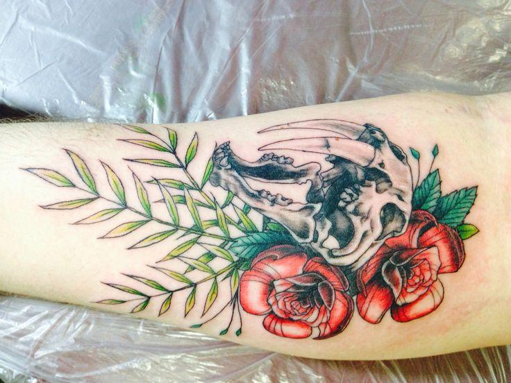 Saber Tooth Tiger Skull Tattoo Pin sabertooth tiger skull tattoos on ...