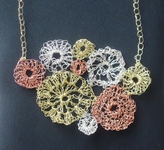 Crochet Wire : crochet with wire Crochet jewels Pinterest