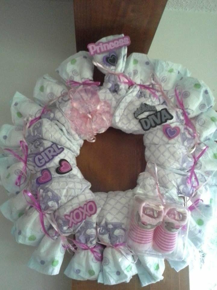 baby shower wreath crafty ideas pinterest