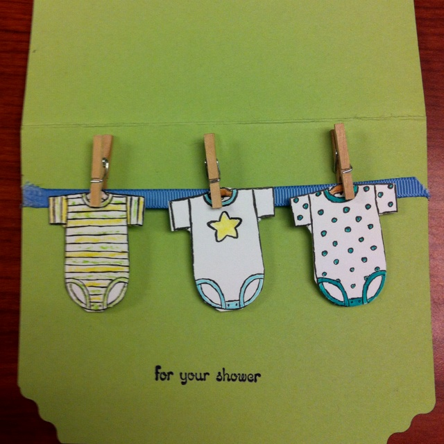 Homemade baby shower card
