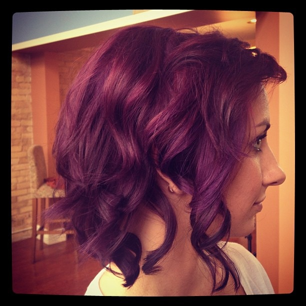 Purple Hair using Aveda! // LOVE!! | Color (Pure pigments) | Pinterest