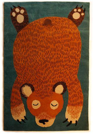 Bear rug...