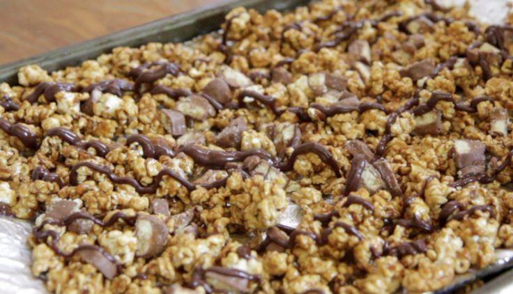 twix caramel popcorn recipe crunchy caramel popcorn how to make