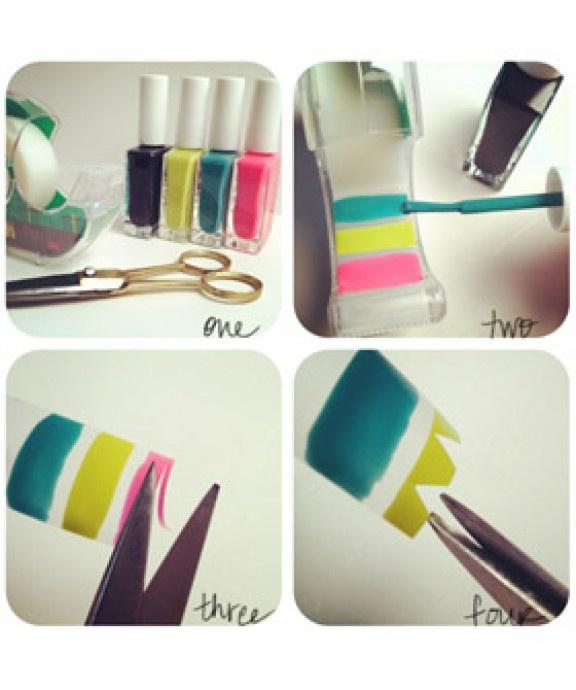 nail-art-stickers-diy | Hair and Nails | Pinterest