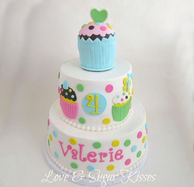 Very cute cupcake cake  Birthday cakes  Pinterest