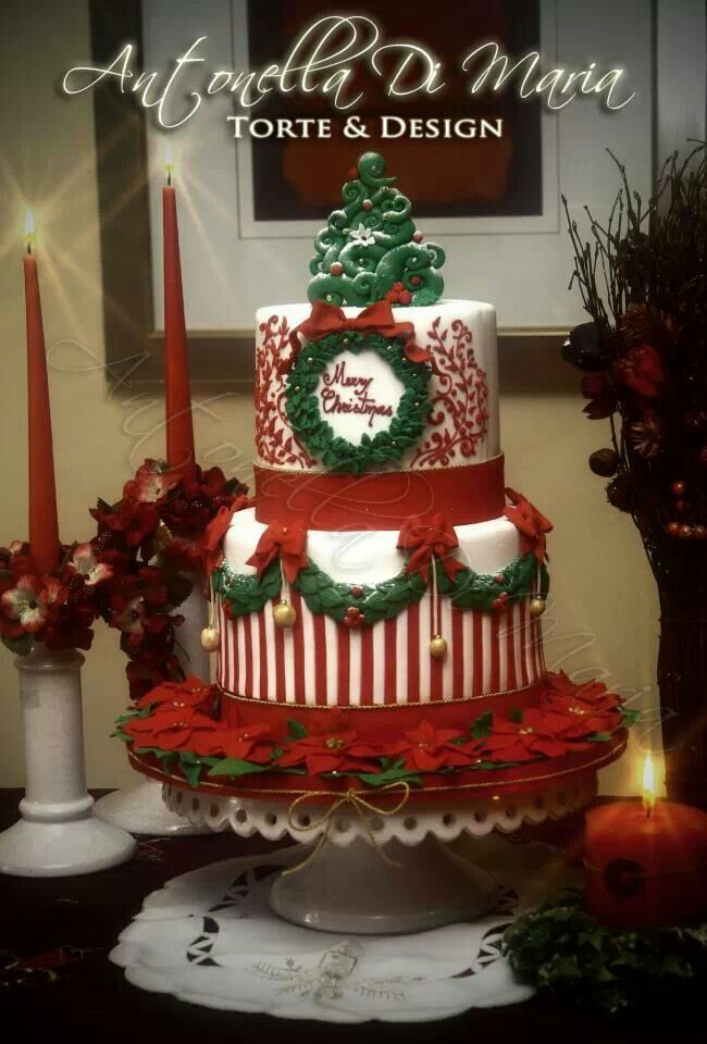 Merry Christmas Holiday Cake Party/Holiday Ideas Pinterest