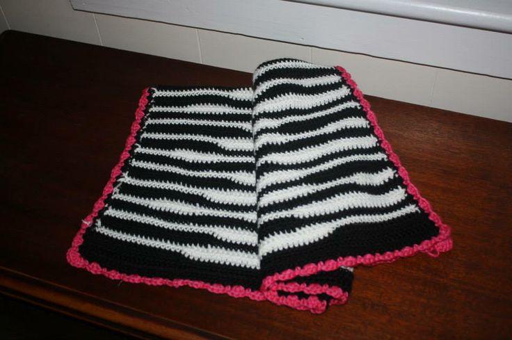 Crochet Zebra Baby Blanket 26x30
