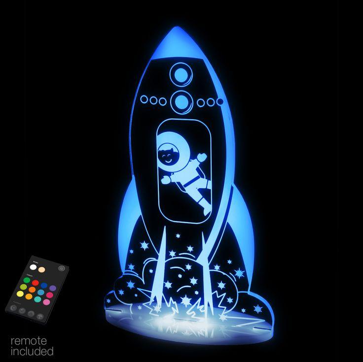Aloka Rocket Night Light Home Kids Bedroom Boys
