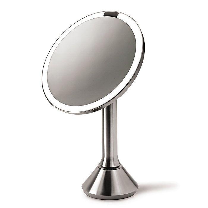 simplehuman sensor mirror sensor activated lighted makeup mirror. Black Bedroom Furniture Sets. Home Design Ideas