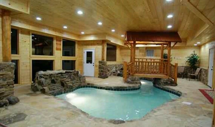 wow log cabin with indoor pool log cabins pinterest