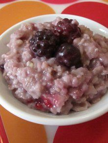 Berry Delicious Oatmeal | Weelicious