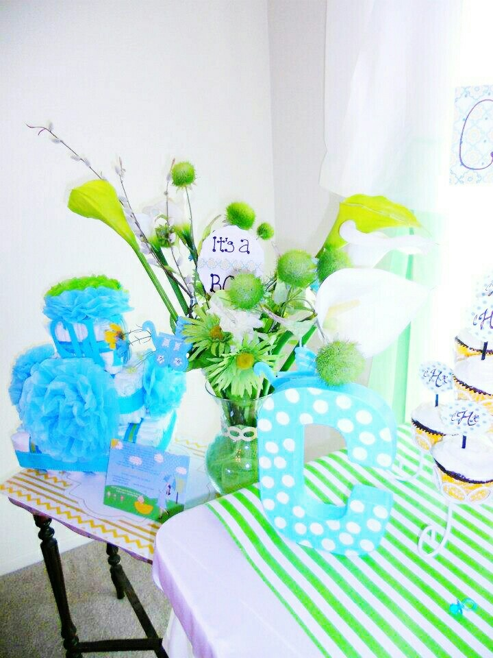 baby shower setup blue and green baby rooms showers ideas etc