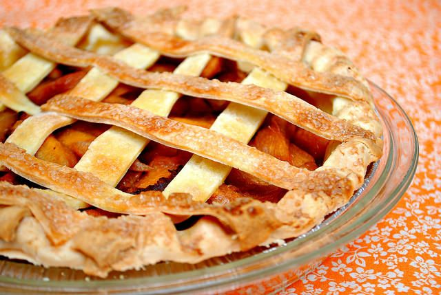 Peach & Almond Lattice Pie | Recipes: Sweets | Pinterest