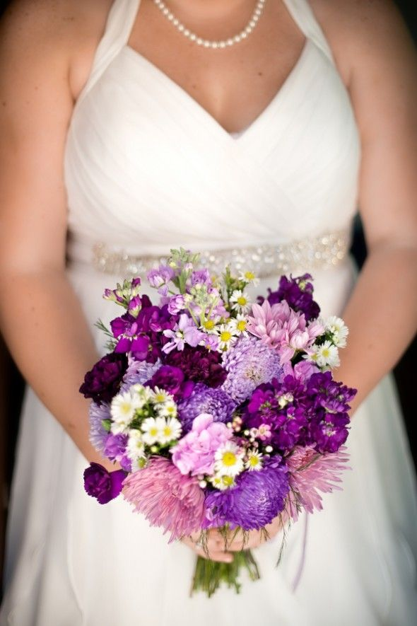 Purple Wedding Flowers from rusticweddingchic.com