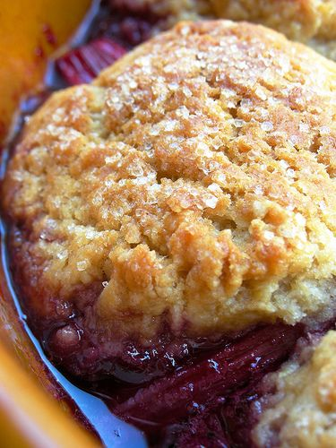 cherry rhubarb cobbler | Desserts! | Pinterest