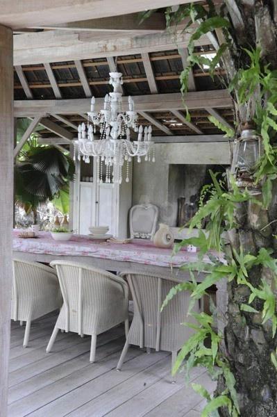 chandeliered porch