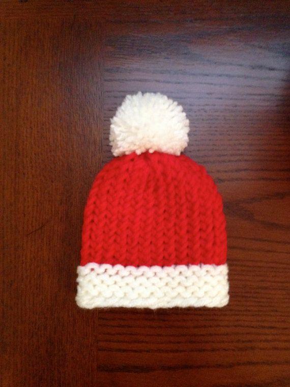 Baby Santa Hat Knitting Pattern : Santa Baby Knit Hat