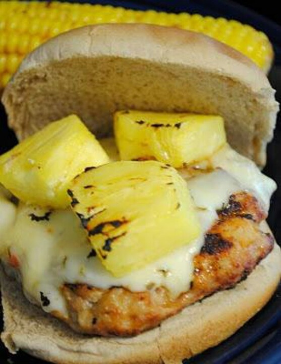 Spicy Hawaiian Chicken. Burgers | Good Eats & Treats | Pinterest