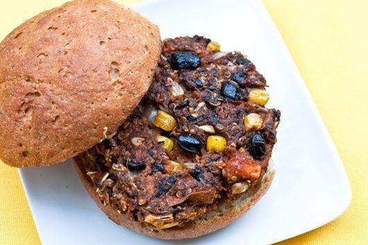 Sweet potato and black bean burger | Vegetarian Main | Pinterest