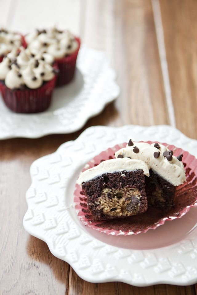 The Ultimate Chocolate Chip Cookie Dough Lover Cupcakes
