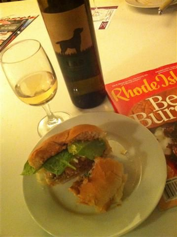 Don't be a Turkey Burger (ground turkey, goat cheese, baby spinach ...