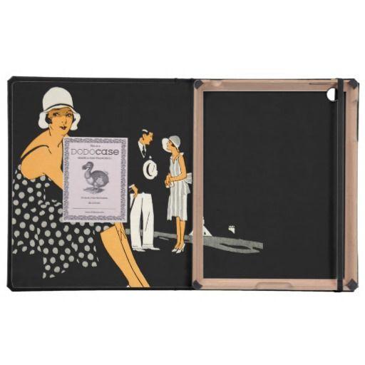 Art Deco Woman Shoes Polka Dot Black iPad Folio Cases #artdecofashion