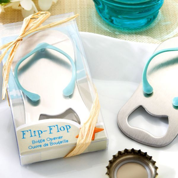 pop the top flip flop bottle opener wedding favor