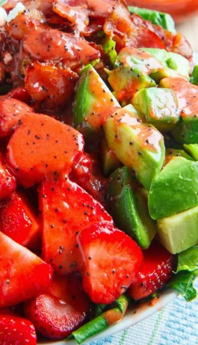 Strawberry and Avocado Spinach Salad