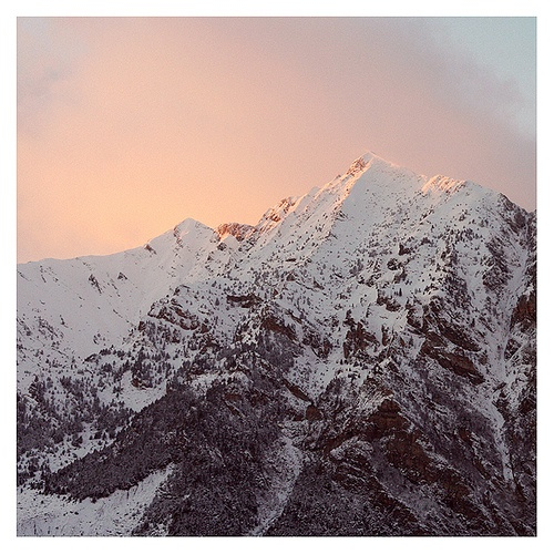 #sunset #snow