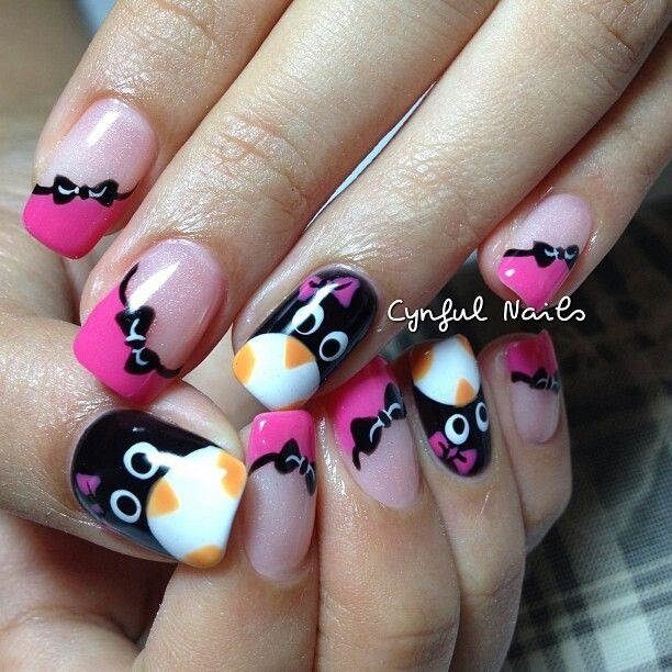 Penguin Nail Art Designs: Penguin Nails