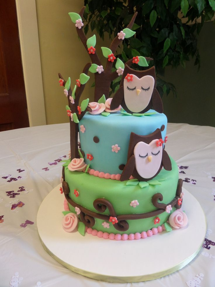 Living room decorating ideas owl baby shower cakes pinterest for Baby shower cake decoration ideas