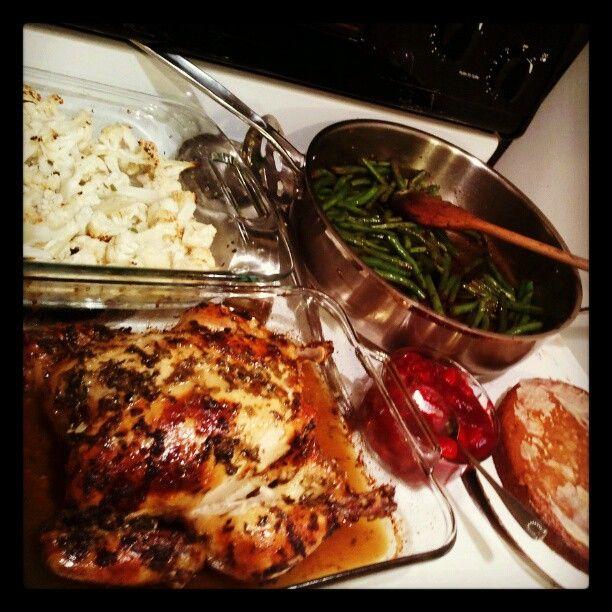 - Orange Baked Chicken - Roasted Cauliflower with scallions ...