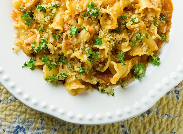 Pasta with Clams, Vodka Sauce and Crispy Breadcrumbs | Recipe