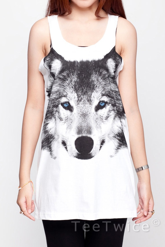 Wolf Shirt Siberian Husky Fox Jacob Animal Shirt Women by TeeTwice, $15.99