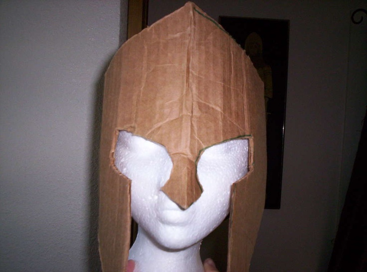 Шлем для рыцаря из картона своими руками 75