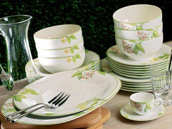 villeroy and boch green garland elegant table settings pinterest. Black Bedroom Furniture Sets. Home Design Ideas