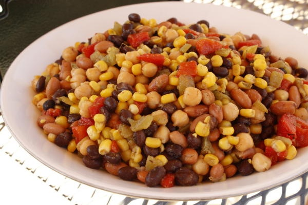 Mexican Three Bean Salad camp recipes. Whip up the dressing before you ...