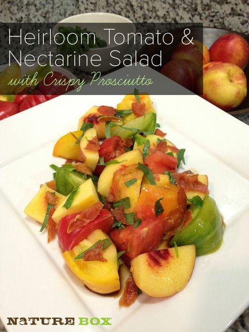 Heirloom Tomato & Nectarine Salad with Crispy Prosciutto | Chew On ...