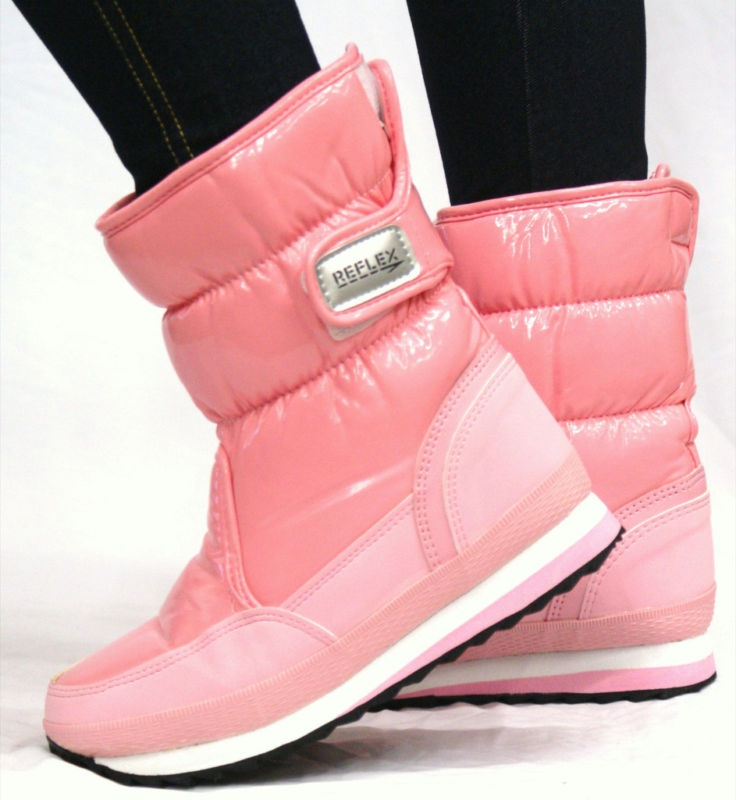 pink moon boots in the pink