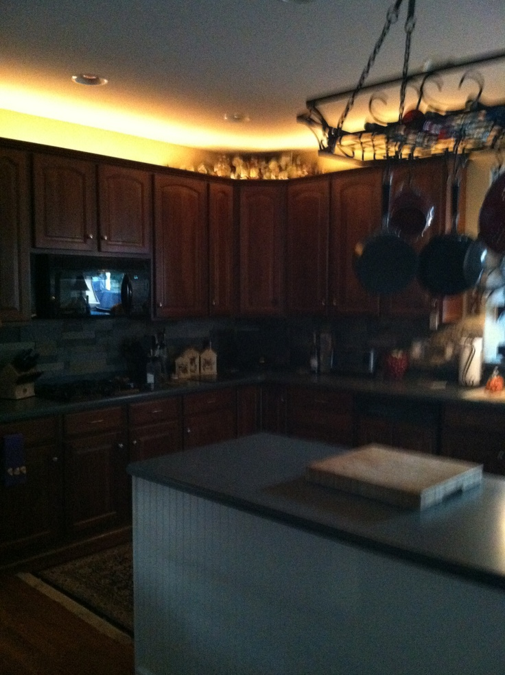 String Lights Above Kitchen Cabinets : Pin by Linda Lynch on Kitchens Pinterest