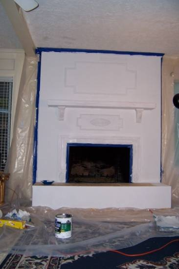 reface fireplace improvement pinterest