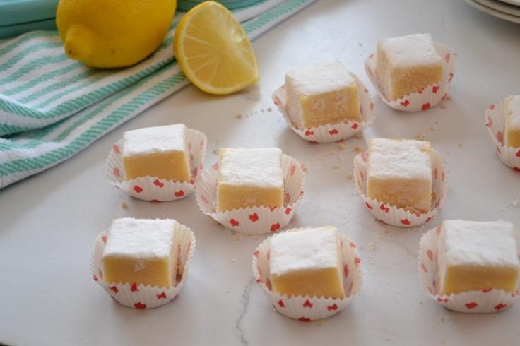 Lemon Bars (Reduced fat - uses Greek Yogurt )