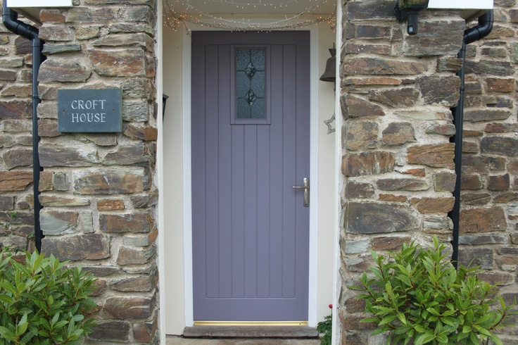 Modern country style the best front door paint colours dusky purples - Purple exterior paint image ...