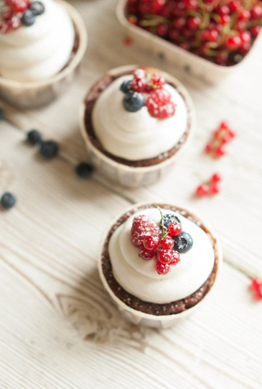 Chocolate Berry Truffle Cream Cakes - The Kitchen McCabe