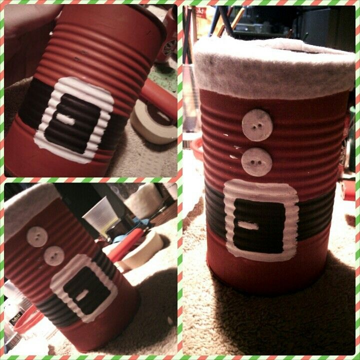 Pin by jenna stump on christmas pinterest for Christmas crafts out of tin cans