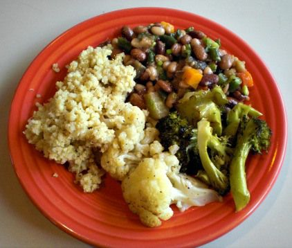Balsamic Veggie-Bean Salad, Roasted Brassicas, & Quinoa. #vegan # ...