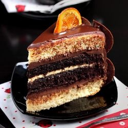 layer cakes | Chocolate Orange Layer Cake Recipe | TasteSpotting