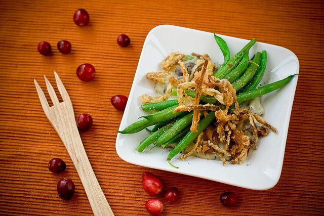 Deconstructed Green Bean Casserole by teenytinyturkey, via Flickr
