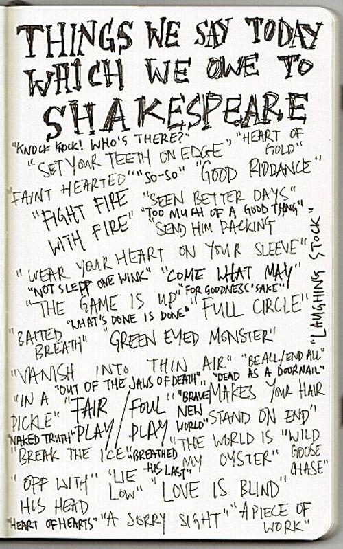 Phrases we got from Shakespeare